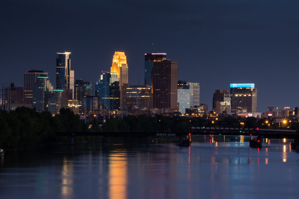 Minneapolis from the Lowry Bridge